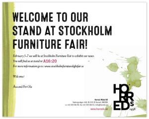 InvitationStockholmFurniturefair