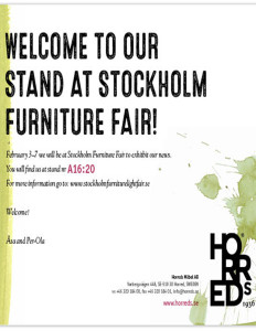 InvitationStockholmFurniturefair