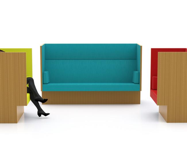 Mute soffa och fåtöljer