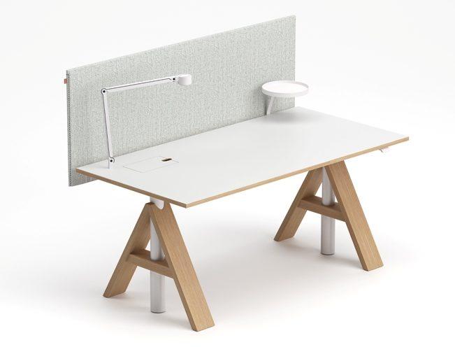 A-frame singelbord med skärm