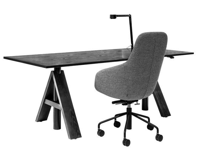 A-frame singel svart ask med stol