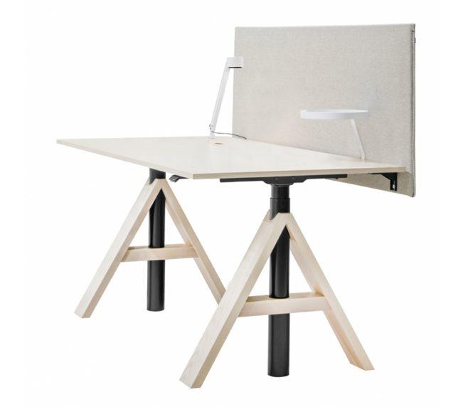 A-frame med bordsskärm